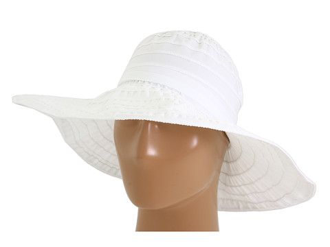 San Diego Hat Company RBL4770 Crushable Ribbon Floppy Sun Hat - White