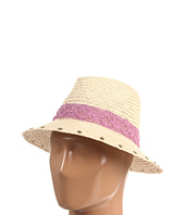 San Diego Hat Company - CHA6340 Lace and Feather Straw Fedora