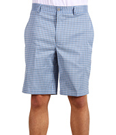 Greg Norman - Gingham Check Flat Front Tech Short