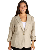 MICHAEL Michael Kors Plus - Plus Size Shirred Sleeve Boyfriend Jacket