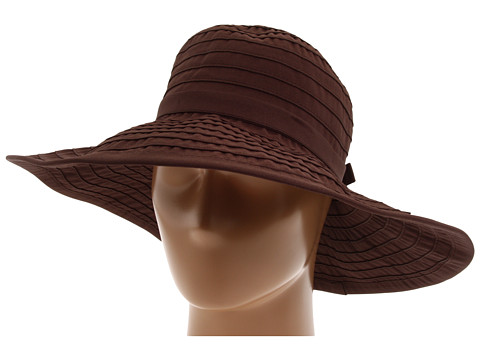 San Diego Hat Company RBL299 Crushable Ribbon Floppy Hat - Brown