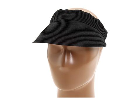 San Diego Hat Company UBV003 Ultrabraid Small Brim Visor - Black