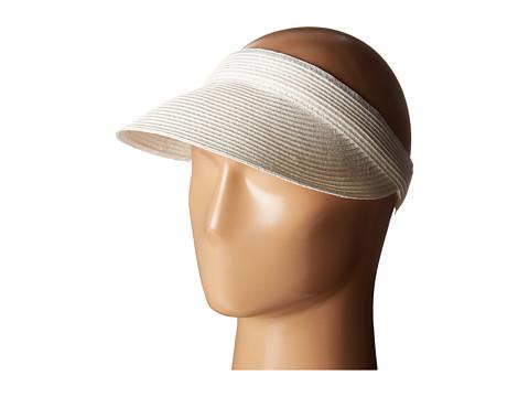 San Diego Hat Company UBV003 Ultrabraid Small Brim Visor - White