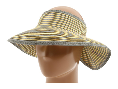 San Diego Hat Company UBV002 Sun Hat Visor - Grey/Yellow Stripe