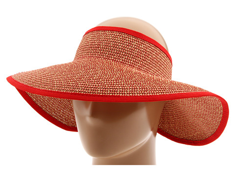 San Diego Hat Company UBV002 Sun Hat Visor - Multi Red