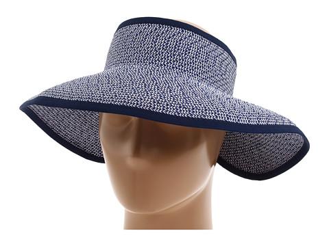 San Diego Hat Company UBV002 Sun Hat Visor - Navy/White Mix