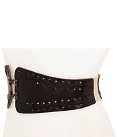 Linea Pelle - Stretch Waist with Laced Tabs and Hook/Eye Closure