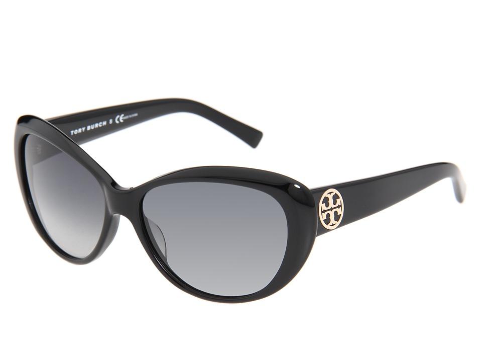 Tory Burch - TY7005 (Black/Smoke Gradient Lens) Plastic Frame Fashion Sunglasses