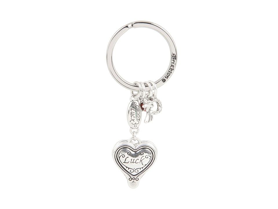 Brighton - Lucky Clover Heart Fob (Silver) Wallet