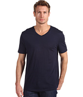 Vince - Solid Jersey Short Sleeve V-Neck Tee