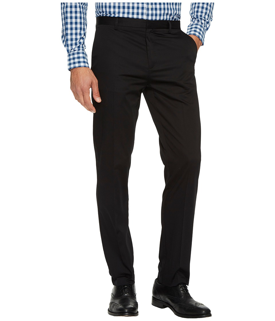 Calvin Klein - Slim Fit Refined Twill Pant (Black) Mens Clothing