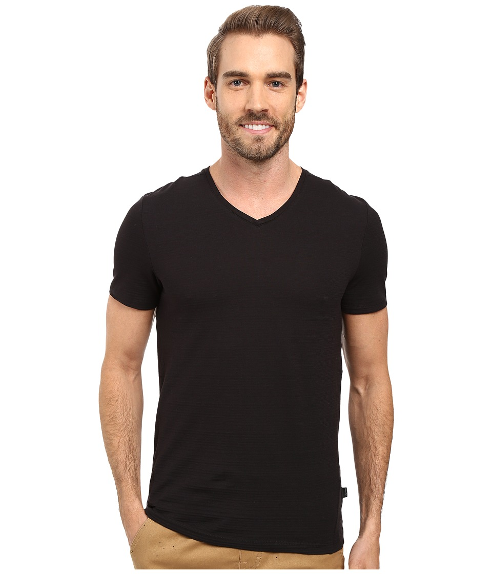 Calvin Klein - Slim-Fit V-Neck T-Shirt (Black) Mens T Shirt
