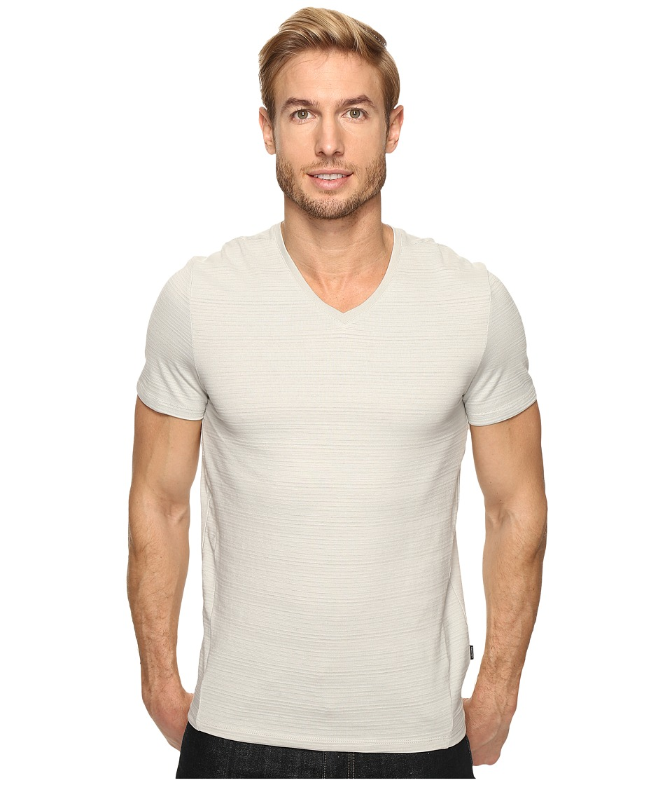 Calvin Klein Slim-Fit V-Neck T-Shirt (Storm Grey) Men