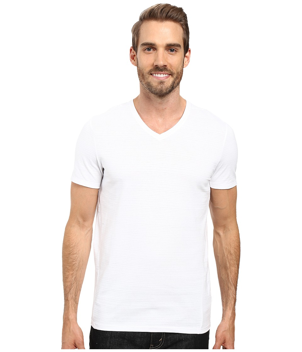 Calvin Klein Slim-Fit V-Neck T-Shirt (White) Men