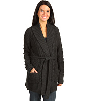 Michael Stars - Cable Fisherman Knit 3GG Wrap Jacket With Tie