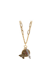 Lucky Brand - Gold Multichain Charm Necklace