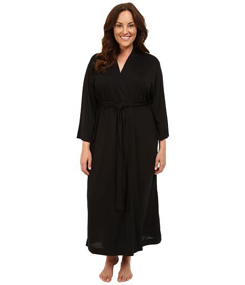 Natori Plus Size Shangri-La Robe - Black
