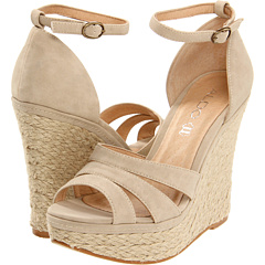 Can you help me find a comfortable, nude color wedge
