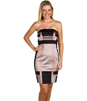 Jax - Color Block Strapless Dress