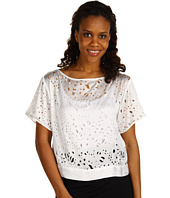 Kenneth Cole New York - Lazer Cut Woven Top