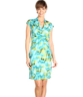Kenneth Cole New York - Watercolor Ikat Printed Dress