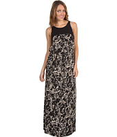Kenneth Cole New York - Black Abstract Crackle Printed Maxi Dress