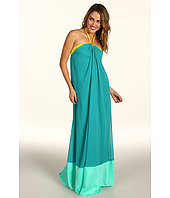 Max and Cleo - Colorblocked Lyla Halter Gown