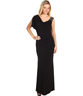 Laundry by Shelli Segal - Asymmetric Draped Beaded Gown