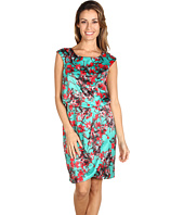 Jessica Simpson - Floral Printed Cap Sleeve Dress