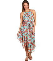Jessica Simpson - Floral Print Halter Top Dress