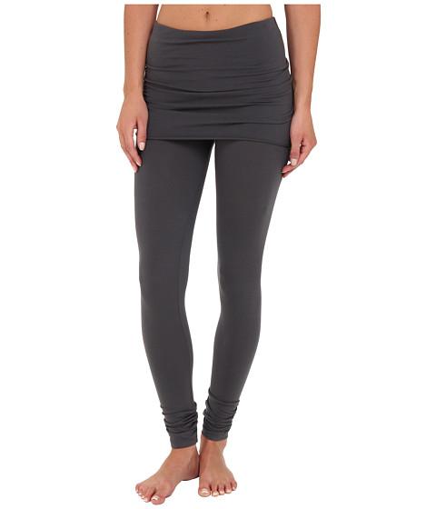 Splendid Jersey Legging w/ Oversized Foldover Waist (Coal) Women's Clothing