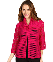 Jones New York - Petite Perforated Boiled Wool Jacket