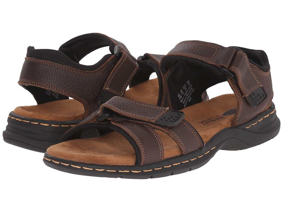 Dr. Scholls Gus Briar Brown Mens Sandals