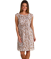 Ellen Tracy - Giraffe Print Dress w/ Pleated Panels