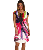 Ellen Tracy - Caribbean Print Modern Shift Dress