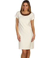 Ellen Tracy - Short Sleeve Bistretch w/ Embellished Neck