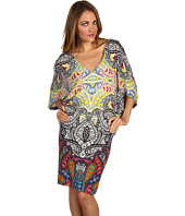 Nicole Miller - V-Neck Batwing Dress