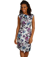Anne Klein - Leaf Floral Sleeveless Dress