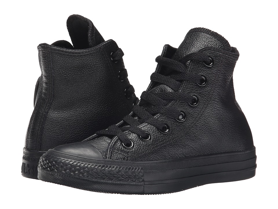 Converse Chuck Taylor All Star Leather Hi Black Monochrome Classic Shoes