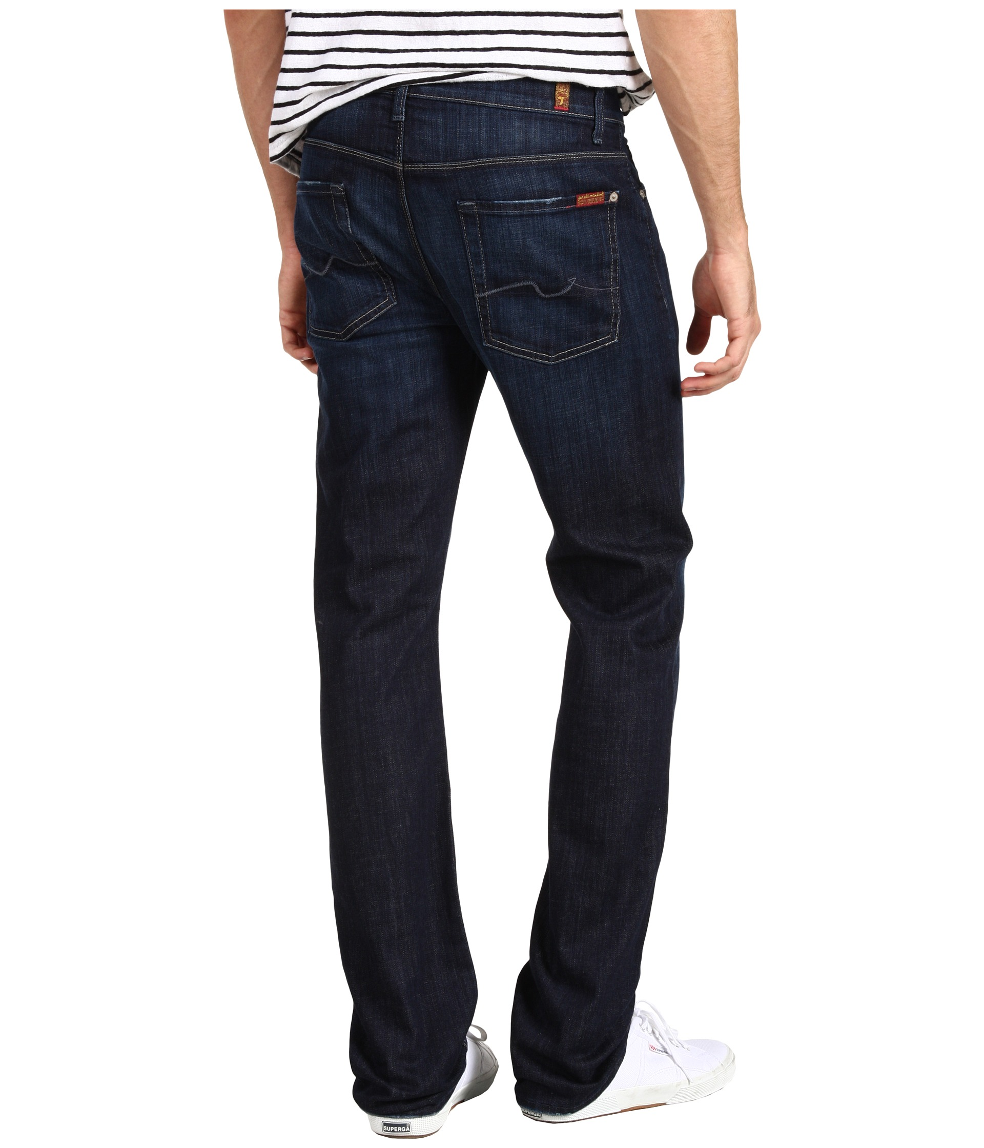 7 For All Mankind Slimmy Slim Straight Leg in Los Angeles Dark at ...