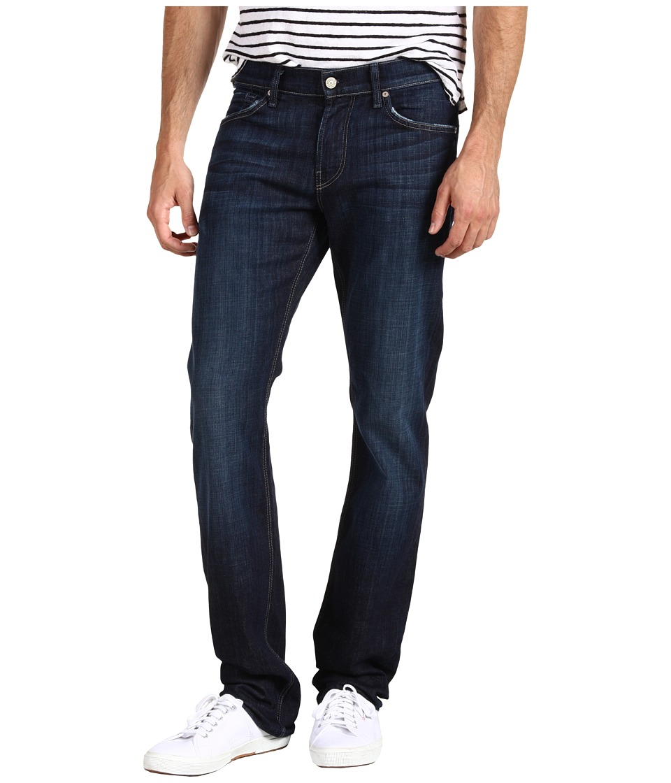 7 For All Mankind Slimmy Slim Straight Leg in Los Angeles Dark (Los Angeles Dark) Men