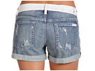 7 For All Mankind - Vintage Colorblock Roll-Up Short in Sardinia Light Heritage (Sardinia Light Heritage) - Apparel