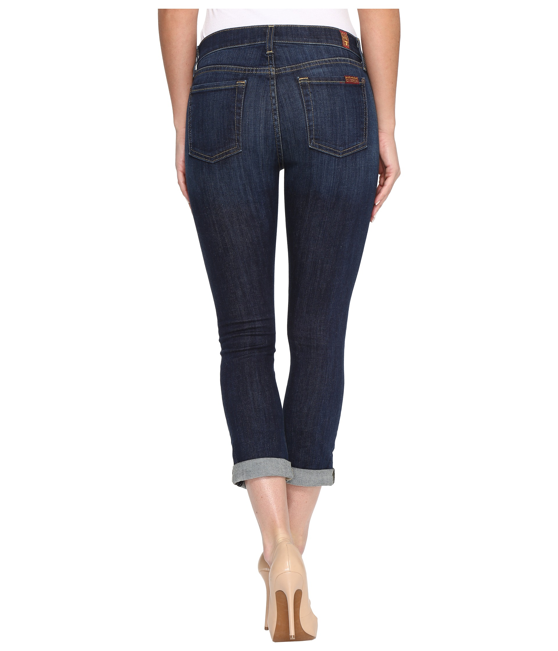 7 For All Mankind Skinny Crop &amp Roll in Nouveau New York Dark