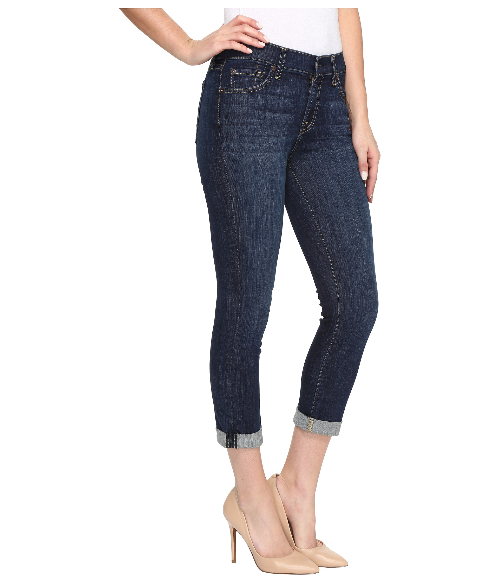 7 For All Mankind Skinny Crop & Roll in Nouveau New York Dark at ...