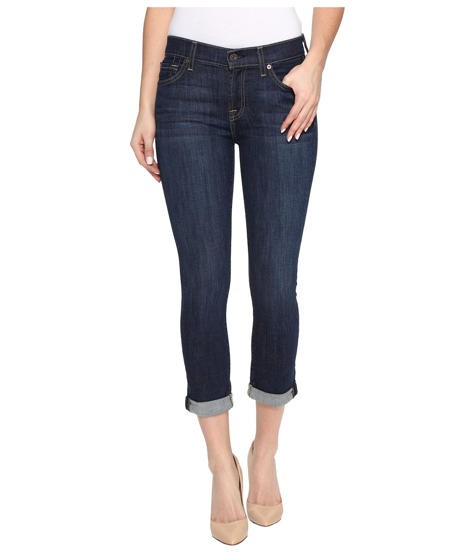 7 For All Mankind - Skinny Crop Roll in Nouveau New York Dark (Nouveau New York Dark) Womens Jeans