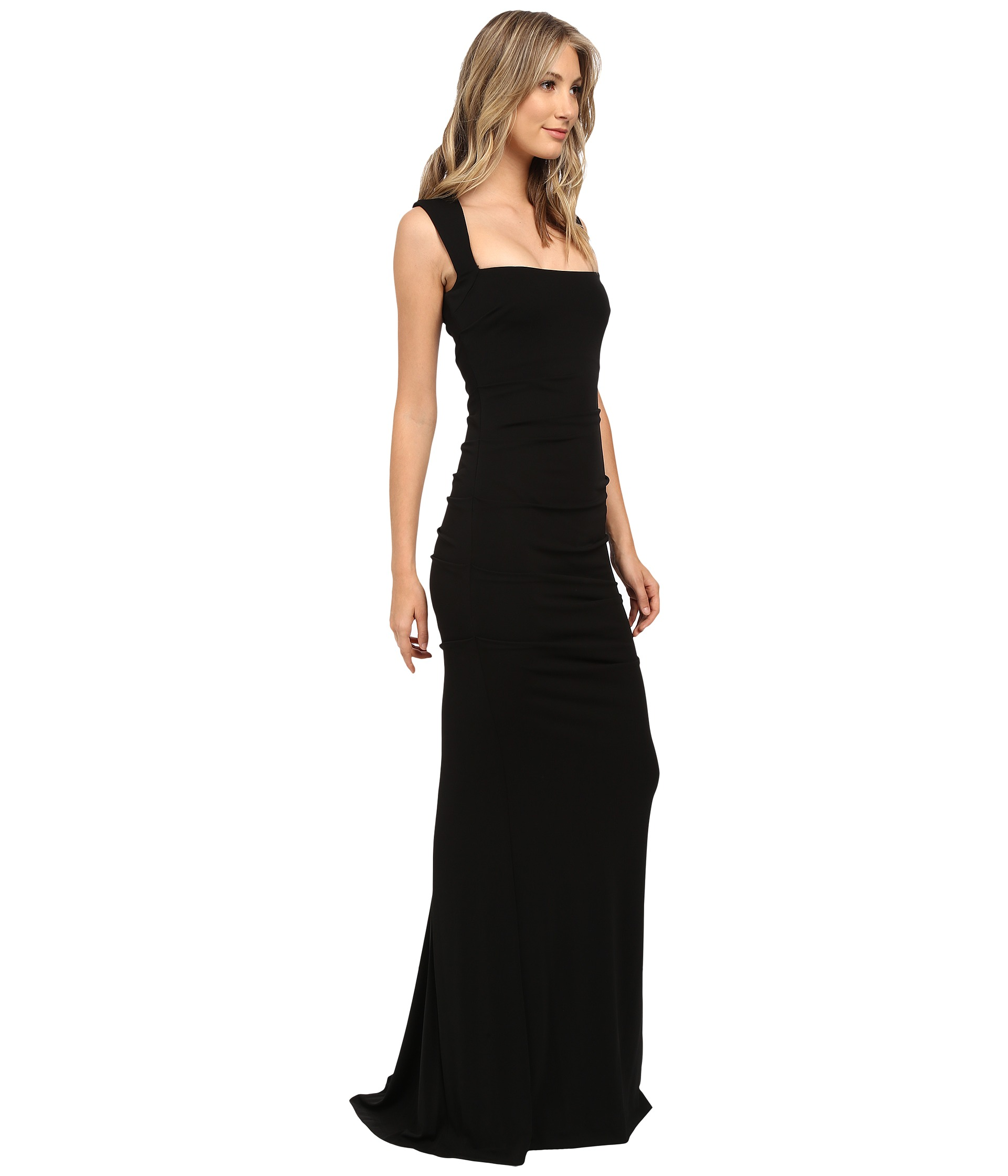 Black strapless evening dresses by nicole miller