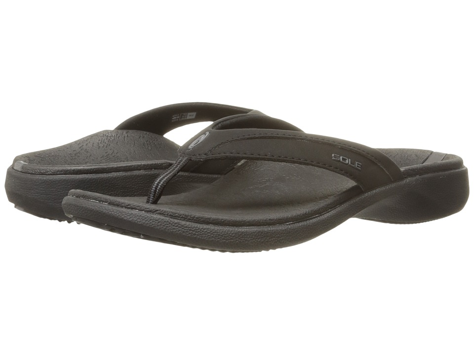SOLE - Sport Flips (Raven) Womens Sandals
