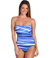 Tommy Bahama - Ombre Twist Front Bandeau One-Piece