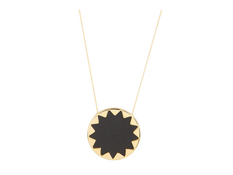 House of Harlow 1960 Sunburst Pendant with BlackLeather