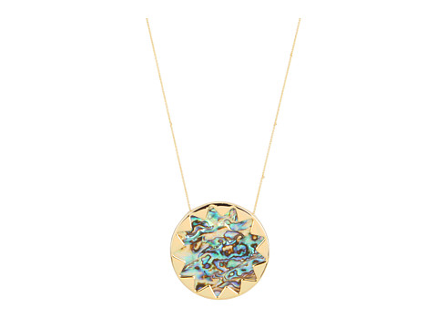 House of Harlow 1960 Sunburst Pendant with Abalone Shell
